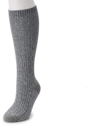 Cuddl Duds Women's Chain Stitch Knee High Socks