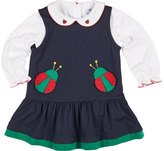 Florence Eiseman French Terry Ladybug Jumper w/ Blouse, Size 2-6