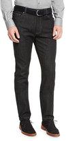 Ermenegildo Zegna Five-Pocket Stretch-Denim Jeans, Black