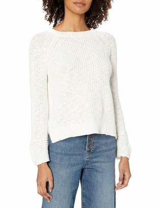 Velvet by Graham & Spencer Women's Cotton Linen Reversible Back to Front Sweater