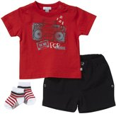 Petit Lem Pop Music 3 Piece Tee Sets (Baby) - Red-3 Months