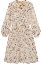 Vanessa Bruno Gagny Floral-print Silk Crepe De Chine Dress - Off-white