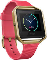 Fitbit Blaze Gunmetal Wireless Activity and Sleep Tracking Smart Fitness Watch, Large, Pink/Gold