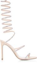 Rene Caovilla Satin Snake-Coil Sandals