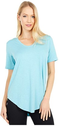 tasc Performance Longline Tee (Aquamarine) Women's T Shirt