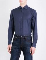Ralph Lauren Purple Label Hopsack-weave regular-fit cotton shirt