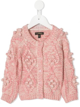 Velveteen Harley cable knit cardigan