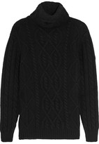 Tom Ford Cable-knit Cashmere Turtleneck Sweater - Black