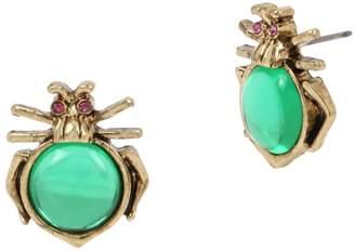 Betsey Johnson Goldtone Crystal Bug Stud Earrings