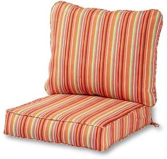 Highland Dunes Indoor/Outdoor Seat/Back Cushion Fabric: Watermelon