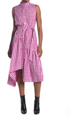 Derek Lam Nerioa Gingham Flounced Midi Dress