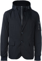 Emporio Armani zip up hooded jacket - men - Polyester - M