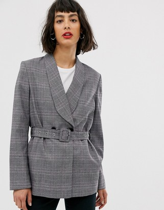 Selected belted blazer