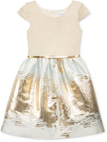 Blush by Us Angels Blush Metallic Brocade Special Occasion Dress, Big Girls (7-16)