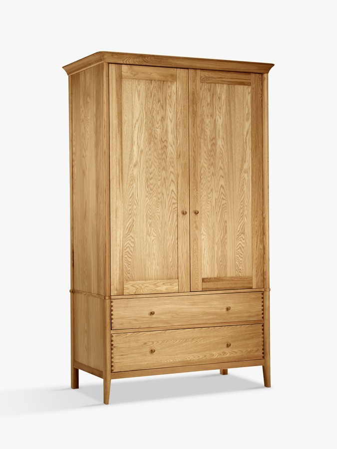 John Lewis & Partners Essence Double Wardrobe, Oak