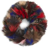 Jocelyn Women's Dyed Genuine Fox Fur Infinity Scarf