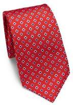 Kiton Square Pattern Silk Tie