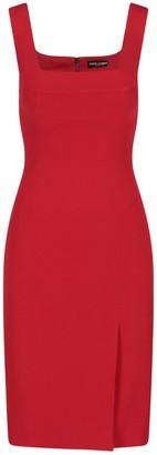 Dolce & Gabbana Square Neck Sleeveless Dress