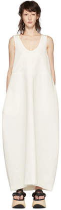 Jil Sander White Sleeveless Long Dress