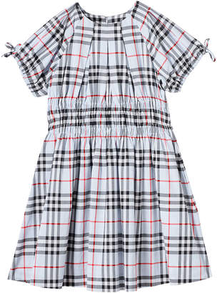 Burberry Girl's Joyce Check Smocked Dress, Size 3-14