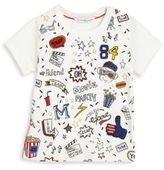 Little Marc Jacobs Baby American Movies Allover Printed Tee