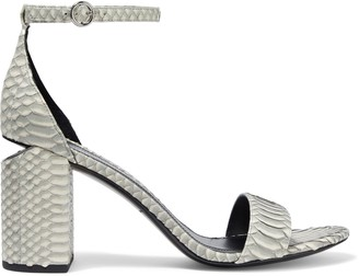 Alexander Wang Abby Cutout Snake-effect Leather Sandals