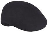 John Lewis Wool Moulded Flat Cap, Black
