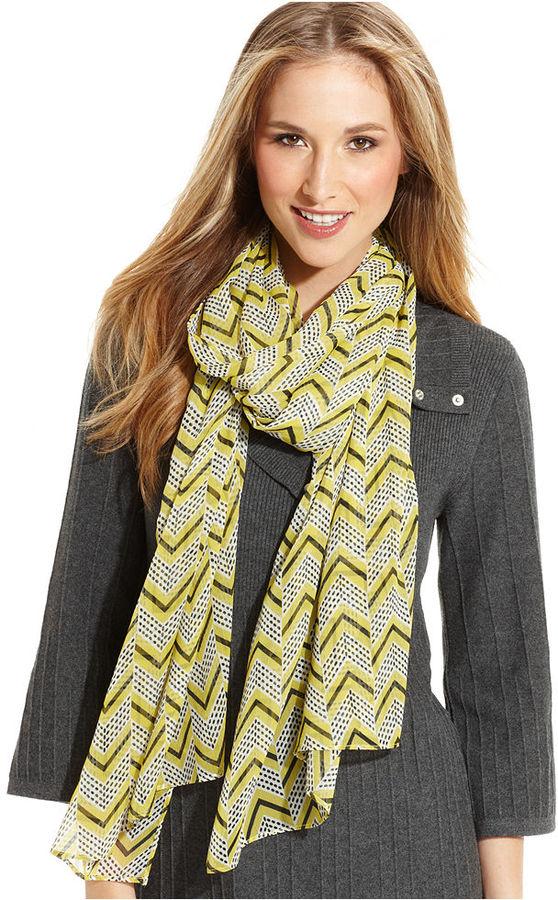 Style&Co. Wrap, Chevron Stripe