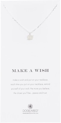 Dogeared Sterling Silver Make A Wish Snail Pendant Necklace