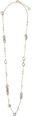 Ermanno Scervino Chain-Link And Faux-Pearl Necklace