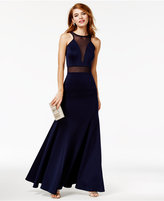 As U Wish Juniors' Halter Gown, A Macy's Exclusive Style