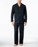 Club Room Men's Big & Tall Plaid Flannel Pajama Set, Only at Macy's