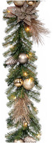 clear National Tree Company 9' Decorative Collection Metallic Garland With Lights