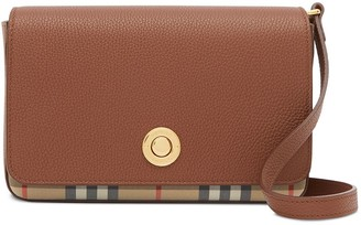 Burberry Vintage check details crossbody bag