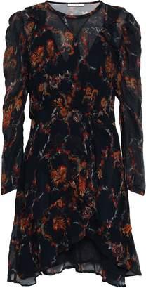 IRO Loxie Ruffled Printed Georgette Mini Dress
