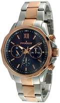Peugeot Men's 1046TBL Stainless Steel Two-Tone Rose Gold Multi-Function Calendar Two-Tone Watch