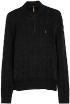 Polo Ralph Lauren Black Cable-knit Cotton Jumper