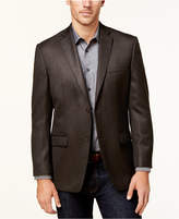 Andrew Marc Men's Slim-Fit Brown Herringbone Sport Coat