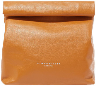 Simon Miller Lunchbag 20 Textured-leather Clutch