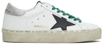 Golden Goose White and Grey Hi Star Sneakers