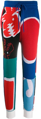 Charles Jeffrey Loverboy Abstract-Print Jogger Trousers