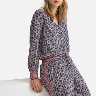 La Redoute Collections Floral Tile Print Shirt