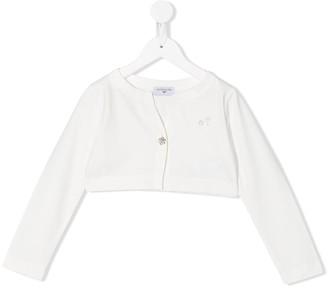 MonnaLisa Cropped Long Sleeve Cardigan