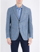 Boglioli Textured Regular-fit Linen And Silk-blend Jacket