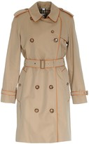 Burberry Contrasting Trim Trench Coat