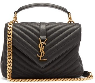 Saint Laurent College Monogram Quilted-leather Cross-body Bag - Black