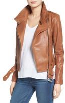 Mackage Women's Belted Leather Moto Jacket