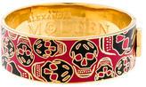 Alexander McQueen Wide Enamel Skull Bangle