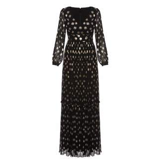 Nissa Maxi Dress With Golden Print