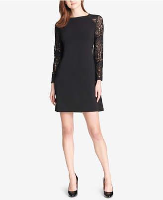 Tommy Hilfiger Petite Lace-Sleeve A-Line Dress